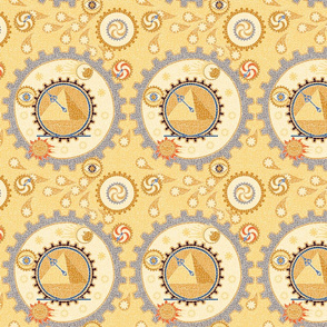 Steampunk Mosaic Time Machine -- Small version  ©2012 by Jane Walker