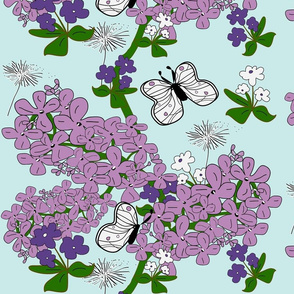 Lilacs & Violets Spring
