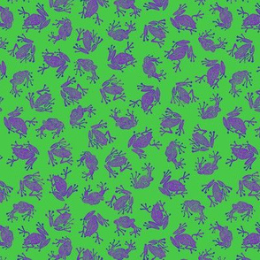 Bob's small purple frogs on green