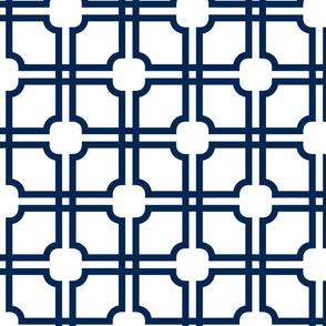 Lattice Gate // Navy on White