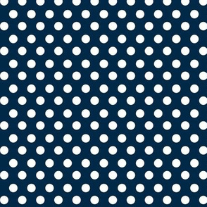 Simple Dot // White on Navy