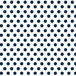 Simple Dot // Navy on White