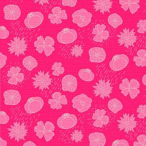 Spring Florals, Bright Pink