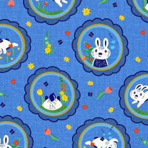 Spring Bunny Frames