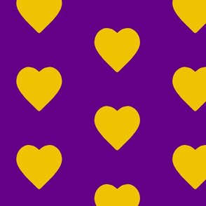 Purple World Gold  Hearts (big)
