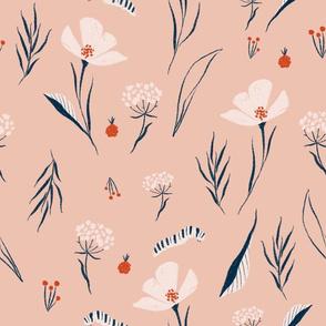 Pink flowing floral
