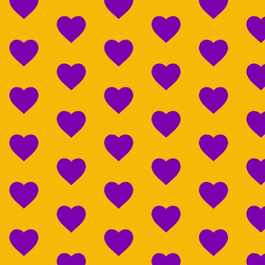 Gold and Purple Hearts (small)