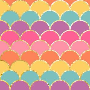 Rainbow Glitter Scales