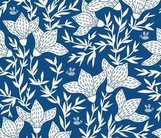 Magnolia on blue (large scale)