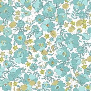 Floral Illustrated 70s Vintage-deepsea