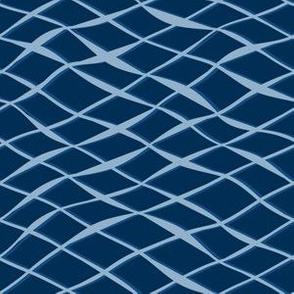 Wavy texture in blue