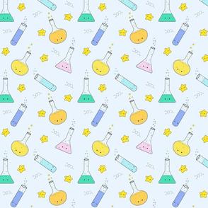 Kavaii, chemistry, star, love, blue, green, yellow
