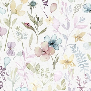 Spring Floral meadow - LARGE scale