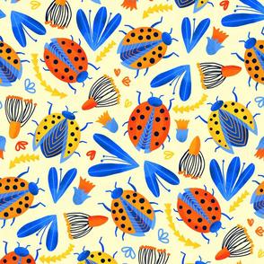 Spring Ladybird Botanical