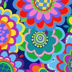 jewel tone mod 70s flowers jumbo