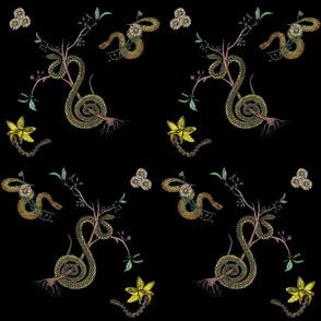 Snakes _ Flowers Pattern.5