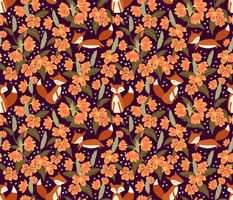 firecracker flowers and foxes
