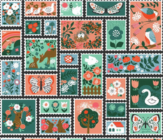 Springtime Stamp Collection