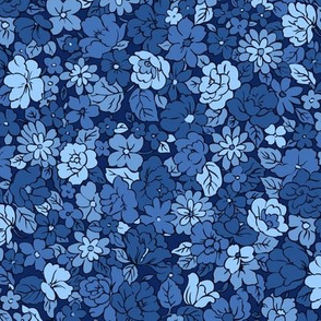 Ditsy floral navy blue