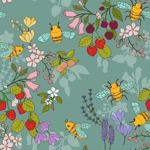 A Garden for Bees {Duck Egg}