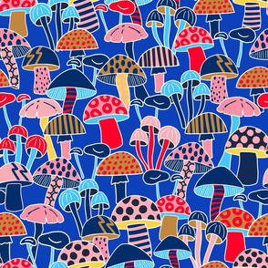 Maximalist Mushrooms - Blue Large Scale