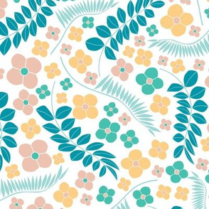 Tropical Ditsy Floral BIG Scale