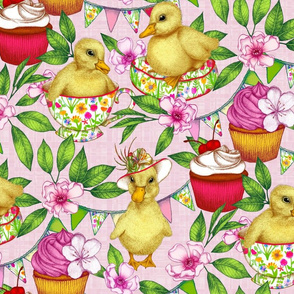 Pretty Pink Ducklings' Spring Picnic