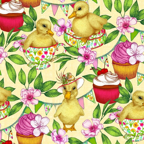 Sunny Ducklings' Spring Picnic