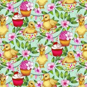 Ducklings' Spring Picnic - small