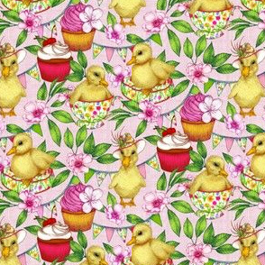 Pretty Pink Ducklings' Spring Picnic - small