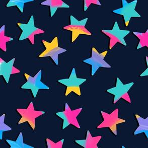 candy rainbow stars