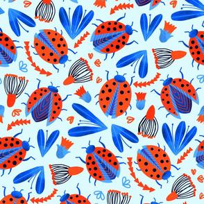 Classic Ladybird Botanical (Large Version)