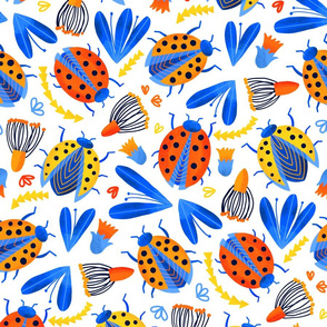 Fresh Ladybird Botanical (Large Version)