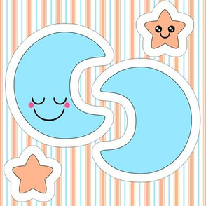 Moon and star swatch toy