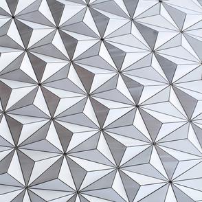Futuristic Spaceship Geometric Pattern