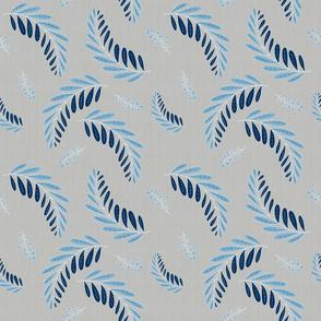 Classic Blue Fern Canvas