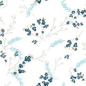 Cherry Blossom - Blue Gray