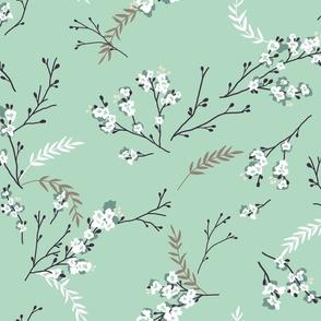 Cherry Blossom - Green