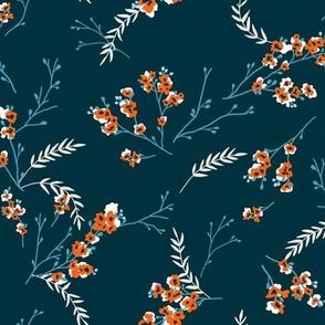 Cherry Blossom - Teal Orange