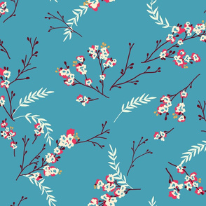 Cherry Blossom - Teal
