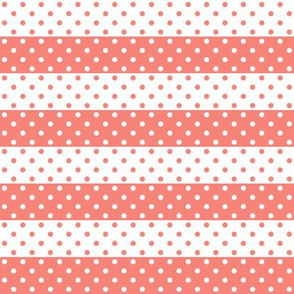 dotted stripes coral