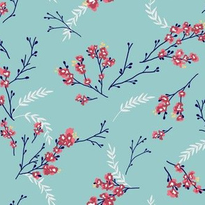 Cherry Blossom - Turquoise