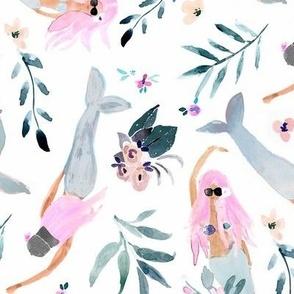 lavender hair mermaids
