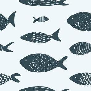Fish in scandinavian design