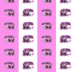 Retro VW Camper Stripes (Pink) -ed