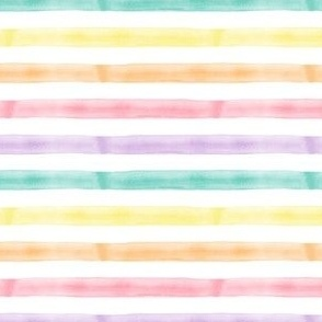 (small scale) watercolor multi stripe || easter spring fabric C20BS