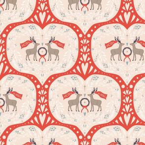 merry christmas, deer! red