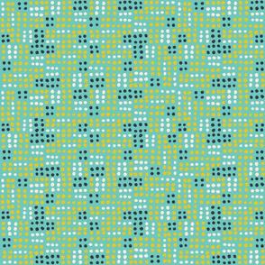 Bugs Life Dots turquoise