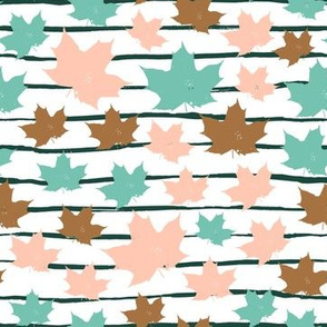 maple leaves  on white - medium scale autumn floral graphics