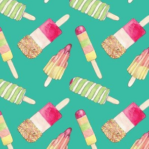 SUMMER YUMMY ICE LOLLY PRINT Green